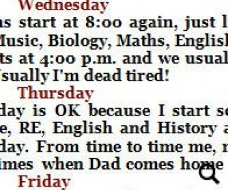 Let's Read and Write About: My School Timetable