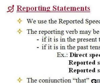 Reported Speech: Rules and Exercises