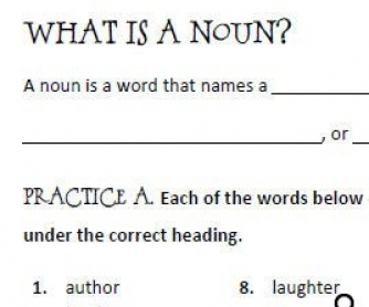 Nouns Worksheet [7 Pages]
