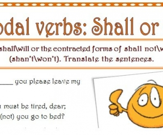 Modal Verbs Worksheet: Shall or Will