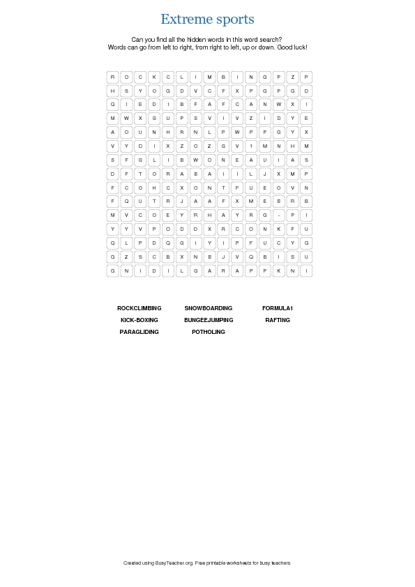 picture about Sports Word Search Printable named Serious Sports activities Term Seem