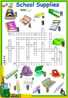 This is a picture crossword that checks the main vocabulary related to ...
