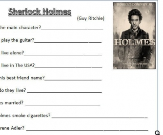 Movie Worksheet: Sherlock Holmes