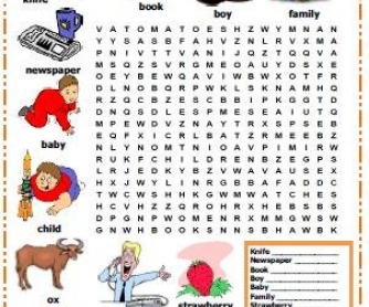 Plural Nouns Word Search