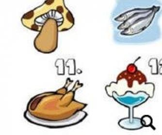 Food Items Worksheet