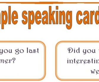 Past Simple Speaking Cards: Set 2