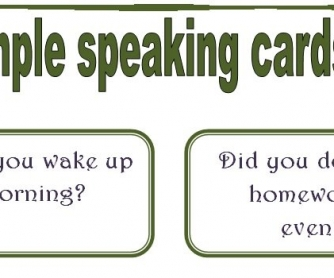 Past Simple Speaking Cards: Set 3