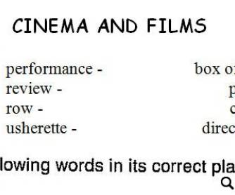 Cinema and Films