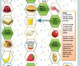 Food and Drinks Boardgame