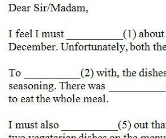 Formal Letter of Complaint