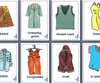 Clothes, Footwear and Accessories: Flash-Cards