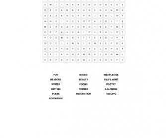 Reading Week Elementary Word Search