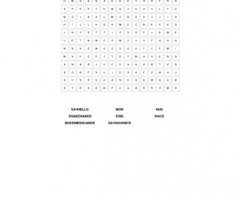 Greetings and Introductions Word Search
