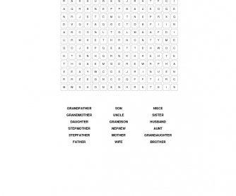 Family Relations Word Search
