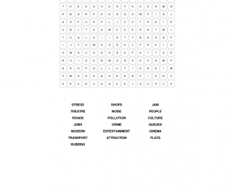 City Life Word Search