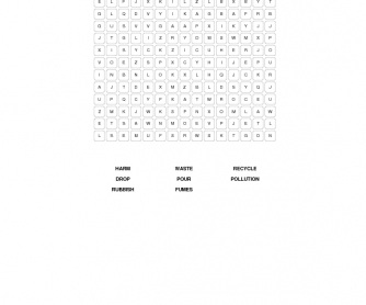 The Environment Word Search