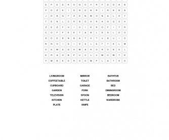 House Vocabulary Word Search