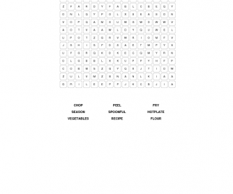 Cooking Word Search