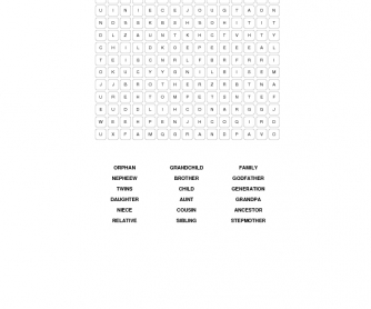 Family Ties Word Search