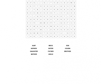 Family Word Search
