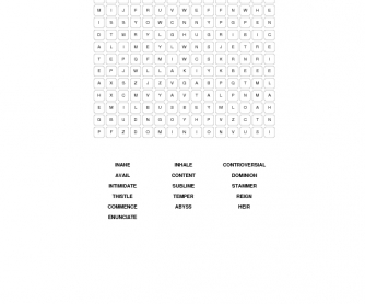 King's Speech: Intermediate Word Search
