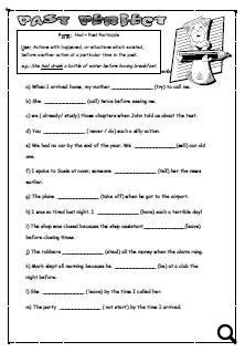 Past Perfect Tense Worksheet [UPDATED]