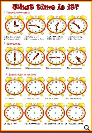 Time Worksheet