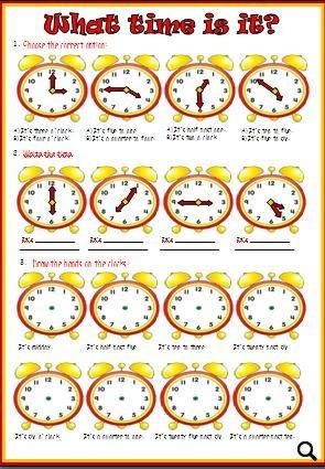telling time worksheet - Telling Time Worksheet