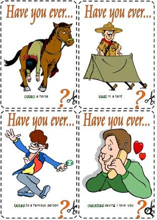Have You Ever Present Perfect Conversation Cards
