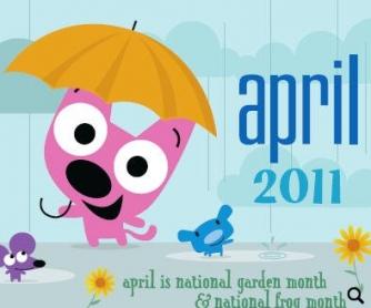 April 2011 Classroom Calendar