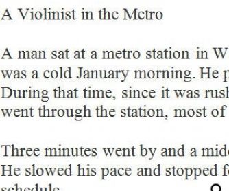 Movie Worksheet: Violinist in Metro [WITH VIDEO]