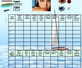 Possessive Adjectives Battleship Game