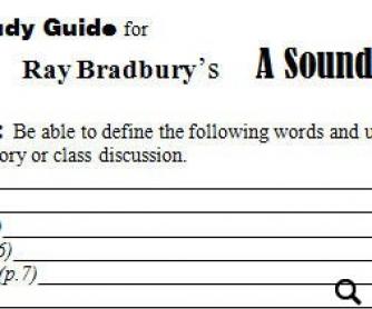Study Guide: A Sound of Thunder by Ray Bradbury