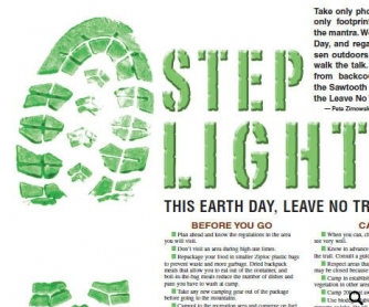 Step Lightly: Earth Day Outdoor Rules