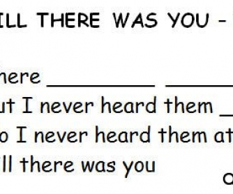Song Worksheet: Till There Was You by The Beatles (WITH VIDEO)