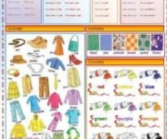 Have got / Clothes / Patterns / Colors / Order of Adjectives Worksheet