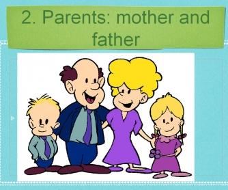 Vocabulary Power Point: Family