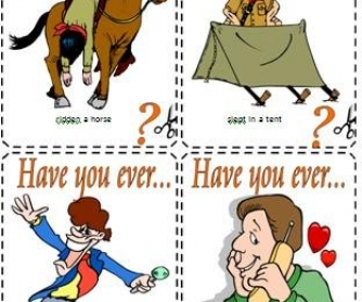 Have You Ever...? Present Perfect Conversation Cards