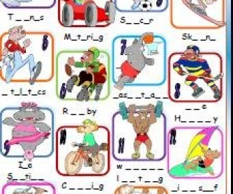 Sports: Missing Letters Activity