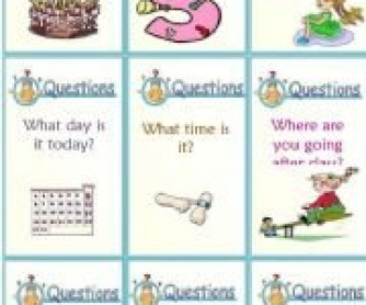 WH-Question Words: Conversation Cards
