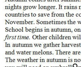 Autumn in Russia (Beginner)