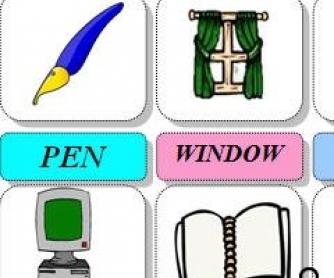 Classroom Objects Pictionary