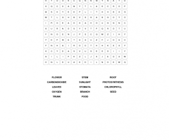 Plants Word Search Puzzle
