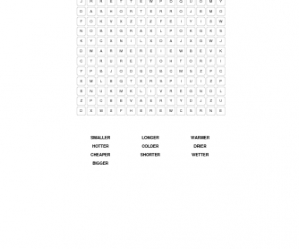 Comparatives Word Search