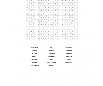 Easter WordSearch Puzzle