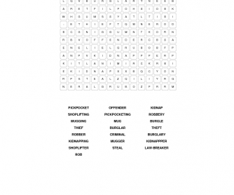 Crime & Criminals Word Search
