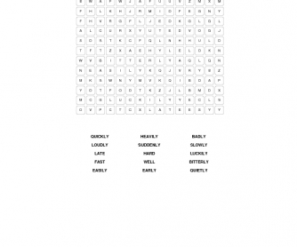 Advertbs of Manner Word Search