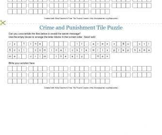 Crime and Punishment Tile Puzzle
