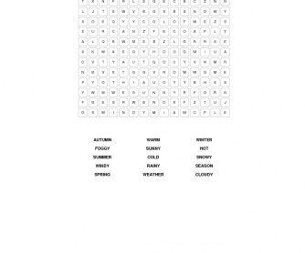 Weather and Seasons Word Search