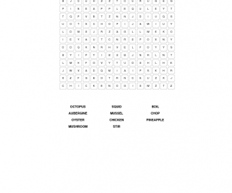 Food and Cooking Word Search
